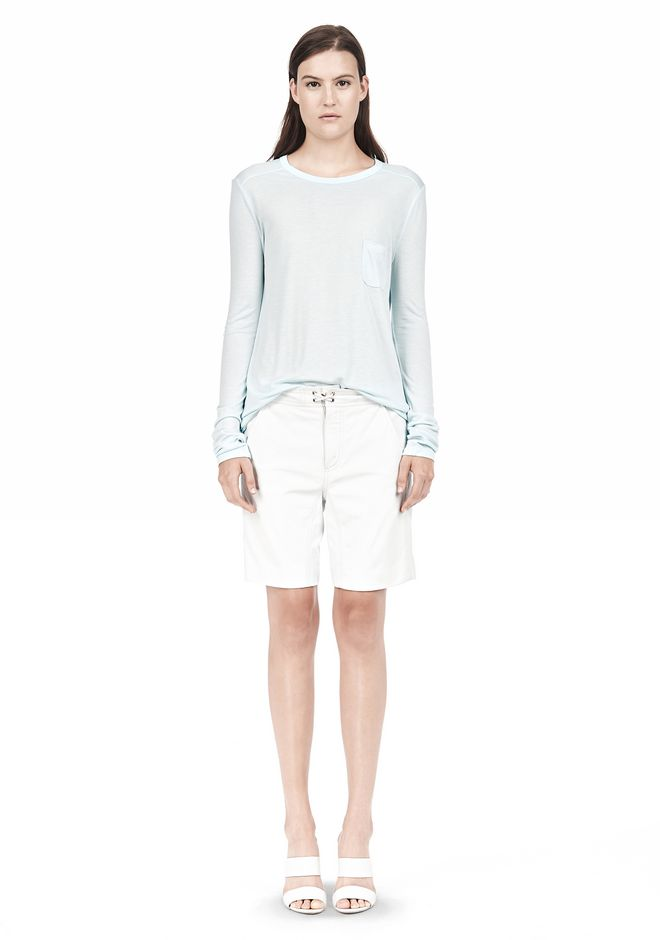 T by ALEXANDER WANG LONG SLEEVE TEE WITH POCKET LONG SLEEVE TEE/DEL Adult 12_n_f