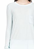 T by ALEXANDER WANG LONG SLEEVE TEE WITH POCKET LONG SLEEVE TEE/DEL Adult 8_n_a