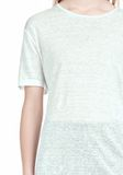 T by ALEXANDER WANG LINEN SILK SHORT SLEEVE TEE TOP Adult 8_n_a
