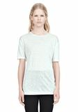T by ALEXANDER WANG LINEN SILK SHORT SLEEVE TEE TOP Adult 8_n_e