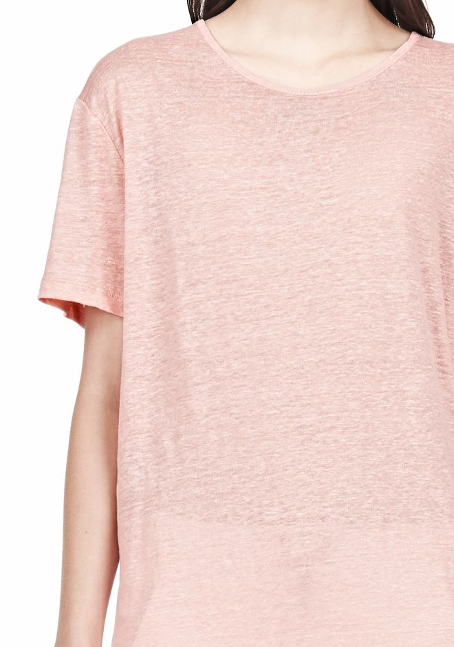 T by ALEXANDER WANG LINEN SILK SHORT SLEEVE TEE TOP Adult 12_n_a