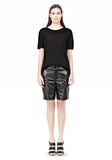 T by ALEXANDER WANG LINEN SILK SHORT SLEEVE TEE TOP Adult 8_n_f