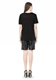 T by ALEXANDER WANG LINEN SILK SHORT SLEEVE TEE TOP Adult 8_n_r
