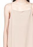 T by ALEXANDER WANG SILK SQUARE NECK SLIP DRESS Short Dress Adult 8_n_a
