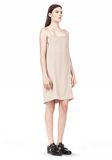 T by ALEXANDER WANG SILK SQUARE NECK SLIP DRESS Short Dress Adult 8_n_e