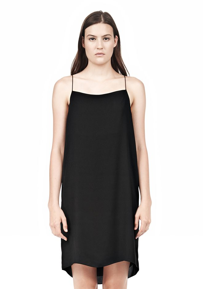 T by ALEXANDER WANG SILK SQUARE NECK SLIP DRESS Short Dress Adult 12_n_e
