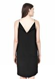 T by ALEXANDER WANG SILK SQUARE NECK SLIP DRESS Short Dress Adult 8_n_d