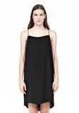 T by ALEXANDER WANG SILK SQUARE NECK SLIP DRESS Short Dress Adult 8_n_e