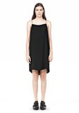 T by ALEXANDER WANG SILK SQUARE NECK SLIP DRESS Short Dress Adult 8_n_f