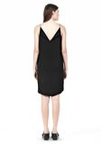 T by ALEXANDER WANG SILK SQUARE NECK SLIP DRESS Short Dress Adult 8_n_r