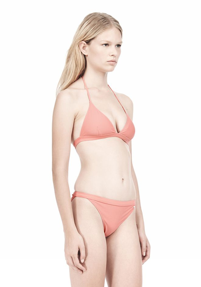 T by ALEXANDER WANG TRIANGLE BIKINI TOP WITH TIE AND BACK CLOSURE Swimwear Adult 12_n_d