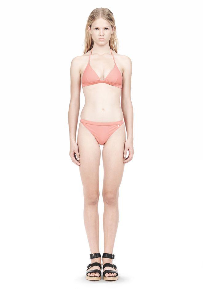 T by ALEXANDER WANG TRIANGLE BIKINI TOP WITH TIE AND BACK CLOSURE Swimwear Adult 12_n_f