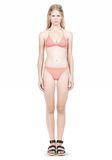 T by ALEXANDER WANG TRIANGLE BIKINI TOP WITH TIE AND BACK CLOSURE Swimwear Adult 8_n_f