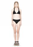 T by ALEXANDER WANG MESH COMBO HALTER RACERBACK SWIM TOP Swimwear Adult 8_n_f