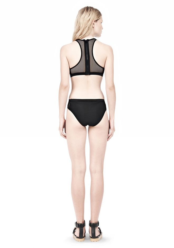 T by ALEXANDER WANG MESH COMBO CREWNECK RACERBACK SWIM TOP Swimwear Adult 12_n_r