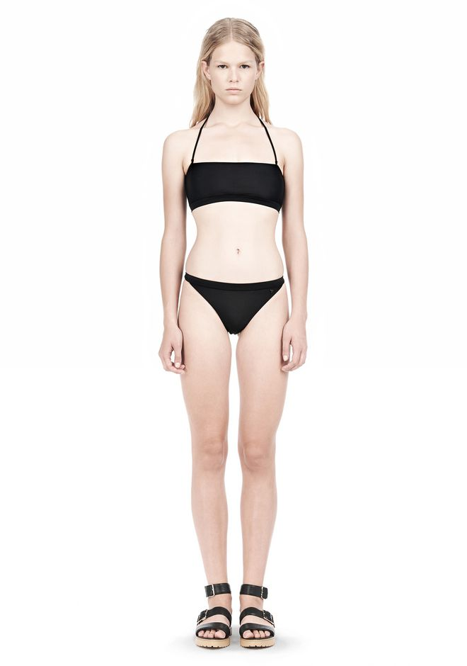 T by ALEXANDER WANG SWIM MATTE JERSEY BANDEAU WITH TRIANGLE T STRAPS Swimwear Adult 12_n_f