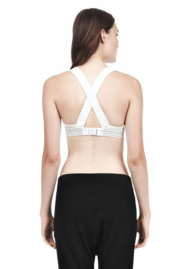 T by ALEXANDER WANG CRISS CROSS BRA TOP Adult 12_n_d