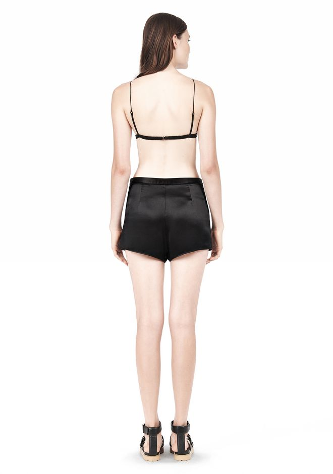 T by ALEXANDER WANG SILK SATIN TRIANGLE BRA TOP Adult 12_n_r