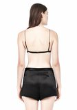 T by ALEXANDER WANG SILK SATIN TRIANGLE BRA TOP Adult 8_n_d