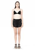 T by ALEXANDER WANG SILK SATIN TRIANGLE BRA TOP Adult 8_n_f