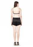T by ALEXANDER WANG SILK SATIN TRIANGLE BRA TOP Adult 8_n_r
