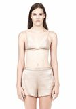 T by ALEXANDER WANG SILK SATIN TRIANGLE BRA TOP Adult 8_n_e