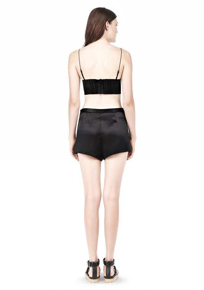 T by ALEXANDER WANG SILK SATIN TRIANGLE BRALETTE TOP Adult 12_n_r