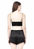 T by ALEXANDER WANG SILK SATIN TRIANGLE BRALETTE TOP Adult 8_n_d