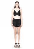 T by ALEXANDER WANG SILK SATIN TRIANGLE BRALETTE TOP Adult 8_n_f
