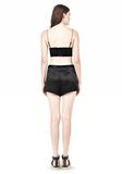 T by ALEXANDER WANG SILK SATIN TRIANGLE BRALETTE TOP Adult 8_n_r