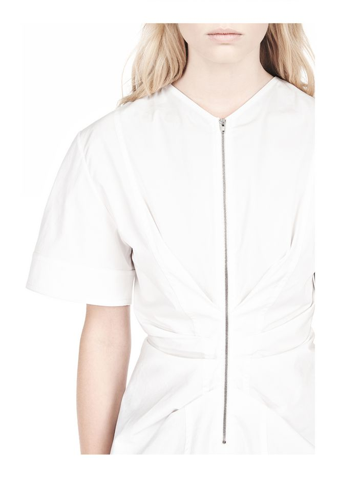 ALEXANDER WANG VACUUM PRESSED TOP WITH  PINCHED FRONT ZIPPER TOP Adult 12_n_a