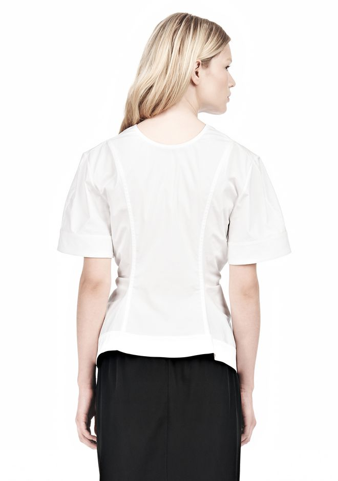 ALEXANDER WANG VACUUM PRESSED TOP WITH  PINCHED FRONT ZIPPER TOP Adult 12_n_d