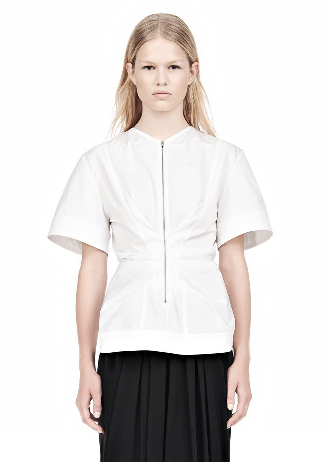 ALEXANDER WANG VACUUM PRESSED TOP WITH  PINCHED FRONT ZIPPER TOP Adult 12_n_e