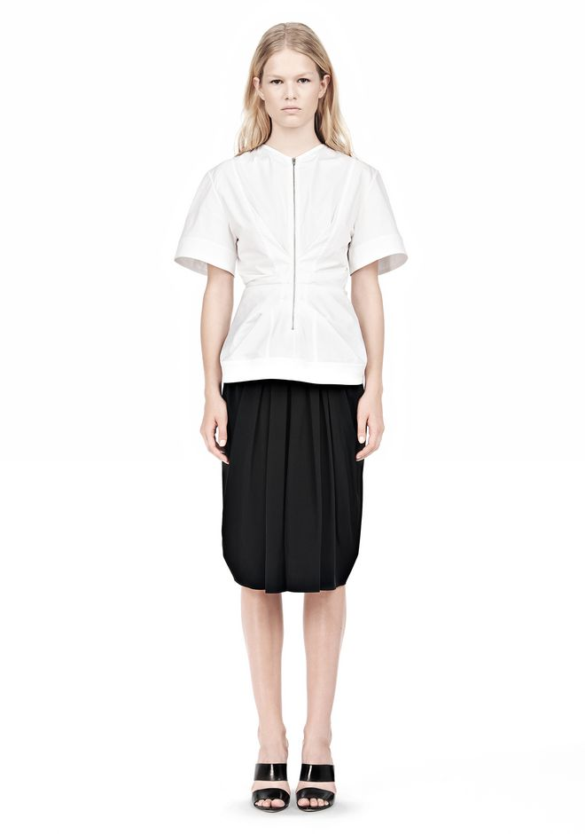 ALEXANDER WANG VACUUM PRESSED TOP WITH  PINCHED FRONT ZIPPER TOP Adult 12_n_f