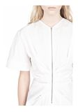 ALEXANDER WANG VACUUM PRESSED TOP WITH  PINCHED FRONT ZIPPER TOP Adult 8_n_a