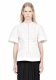 ALEXANDER WANG VACUUM PRESSED TOP WITH  PINCHED FRONT ZIPPER TOP Adult 8_n_e