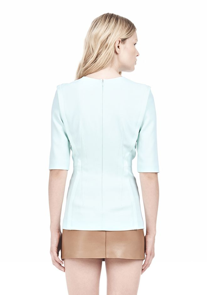 ALEXANDER WANG EXPOSED DART SHORT SLEEVE TOP Blouse Adult 12_n_d