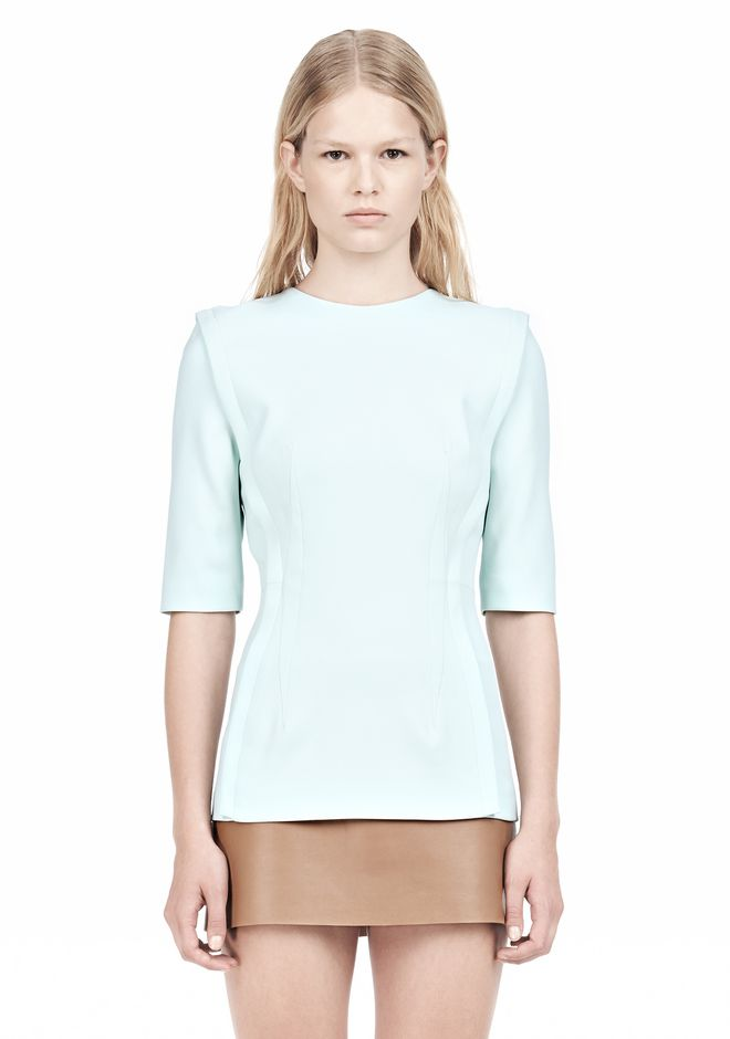 ALEXANDER WANG EXPOSED DART SHORT SLEEVE TOP Blouse Adult 12_n_e