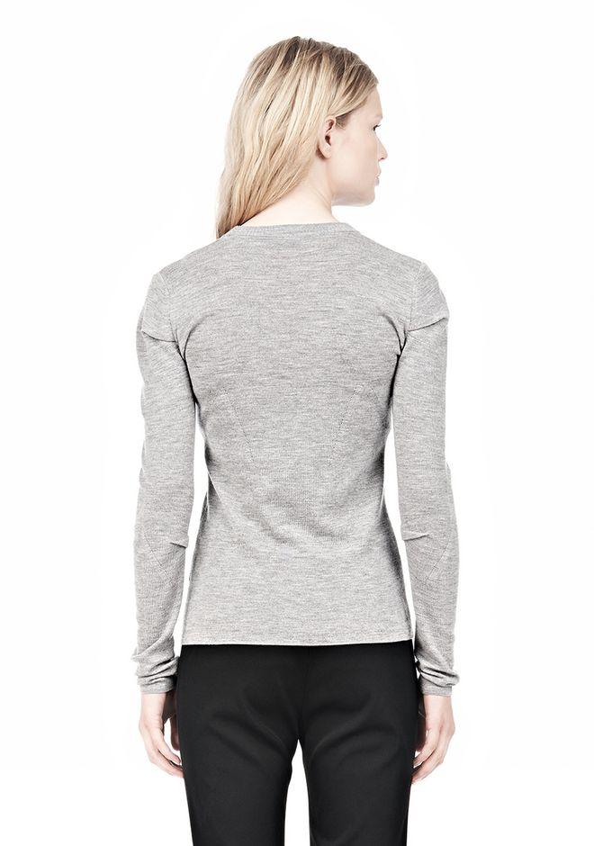 ALEXANDER WANG RIBBED PULLOVER WITH PINCHED DARTS TOP Adult 12_n_d