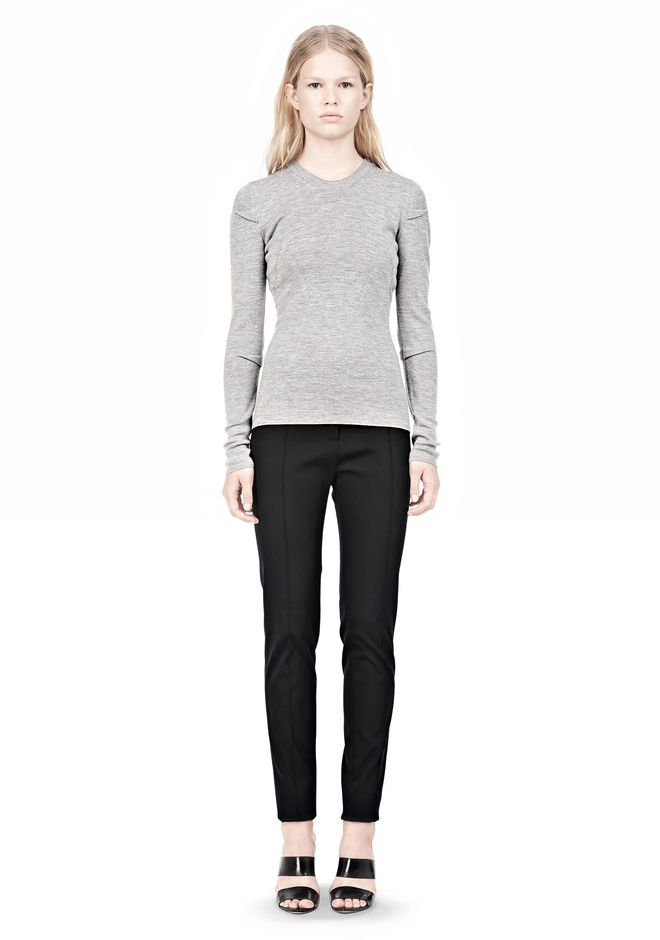 ALEXANDER WANG RIBBED PULLOVER WITH PINCHED DARTS TOP Adult 12_n_f