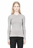 ALEXANDER WANG RIBBED PULLOVER WITH PINCHED DARTS TOP Adult 8_n_e