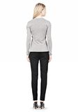 ALEXANDER WANG RIBBED PULLOVER WITH PINCHED DARTS TOP Adult 8_n_r