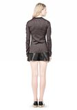 ALEXANDER WANG RIBBED LUREX CREWNECK WITH PINCHED DARTS TOP Adult 8_n_r