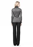 ALEXANDER WANG RIBBED LUREX TURTLENECK WITH PINCHED DARTS TOP Adult 8_n_r
