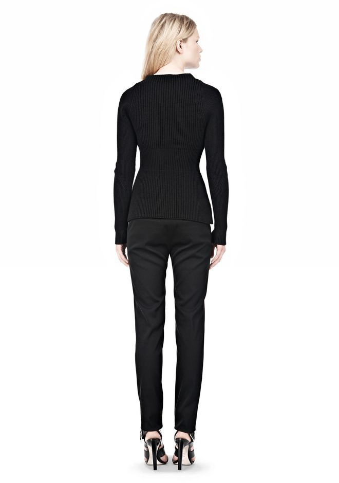 ALEXANDER WANG PINCHED WAIST KNIT PULLOVER TOP Adult 12_n_r