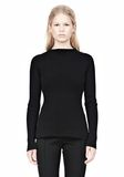 ALEXANDER WANG PINCHED WAIST KNIT PULLOVER TOP Adult 8_n_e