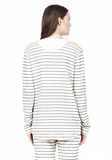 T by ALEXANDER WANG FRENCH RIB BASEBALL LONGSLEEVE TEE CARDIGAN Adult 8_n_d