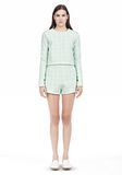 T by ALEXANDER WANG GRID JACQUARD BONDED NEOPRENE LONG SLEEVE TOP Long sleeve t-shirt Adult 8_n_f