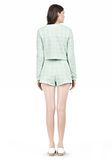 T by ALEXANDER WANG GRID JACQUARD BONDED NEOPRENE LONG SLEEVE TOP Long sleeve t-shirt Adult 8_n_r