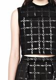 T by ALEXANDER WANG GRID PRINT JERSEY BONDED NEOPRENE CROPPED TANK TANK Adult 8_n_a
